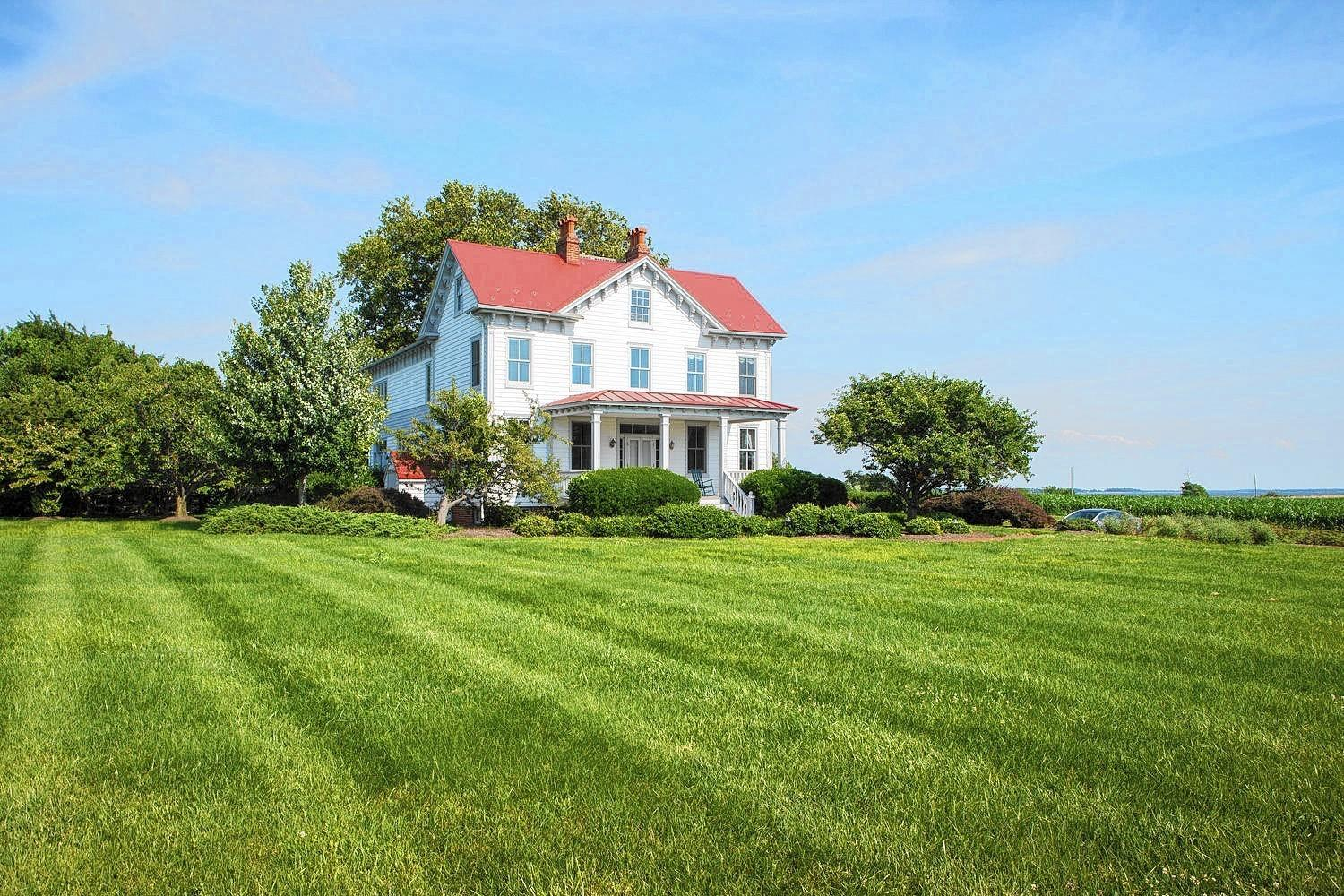 This 19th-century farmhouse in Rock Hall and the property surrounding it is for sale for $6.75 million.