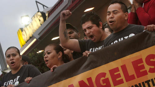 Fast-food workers rally