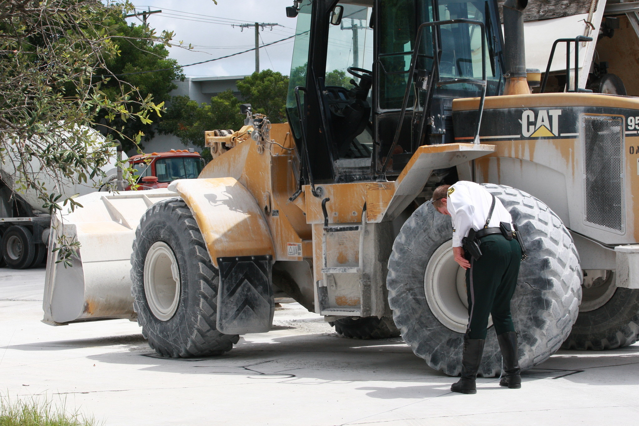 Concrete Plant Loader : A man was struck and injured by bucket loader friday