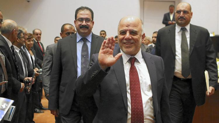 Haider Abadi in Baghdad in 2014 (Pool)