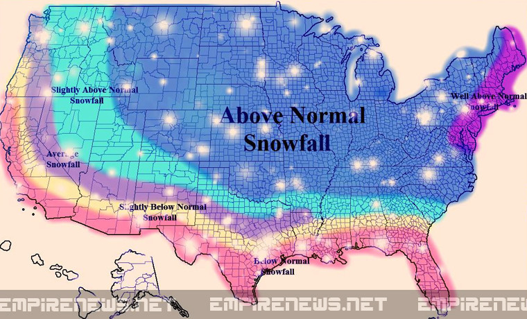 Popular Map Suggesting Recordshattering Snowfall Is A Hoax - Average snowfall map us
