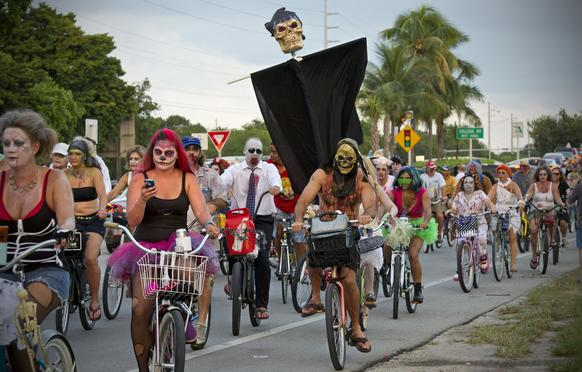 "Oct. 17-26: Fantasy Fest, Key West. ""Anime-ted Dreams"" is the theme for this outrageous 10-day celebration, which includes costume competitions, promenades, street fairs and a grand parade featuring marching groups and lavish floats. 305-296-1817. www.fantasyfest.net"