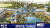 Universal unveils renderings of Sapphire Falls resort