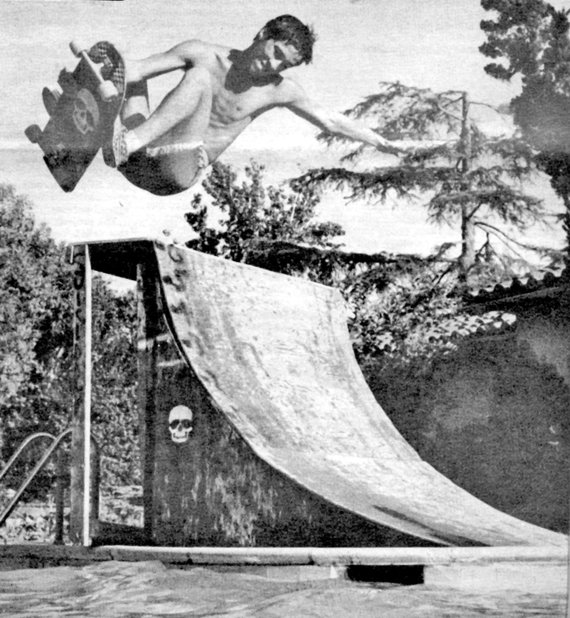 la cañada history skateboard ramp comes in handy for a dip in the