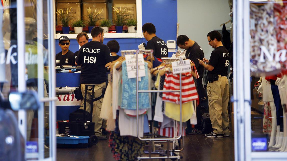 Fashion district raid