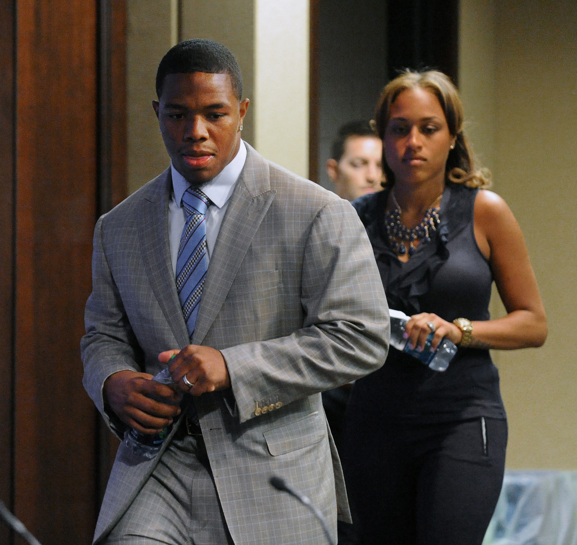 domestic violence on ray rice Ray rice was released by the ravens and indefinitely suspended by the nfl on sept 8 after a new video surfaced of his february assault on his then-fiancee (now his wife) janay rice.