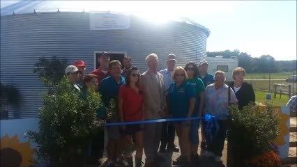 Ribbon Cutting at Agriculture Education Silo in Isle of Wight