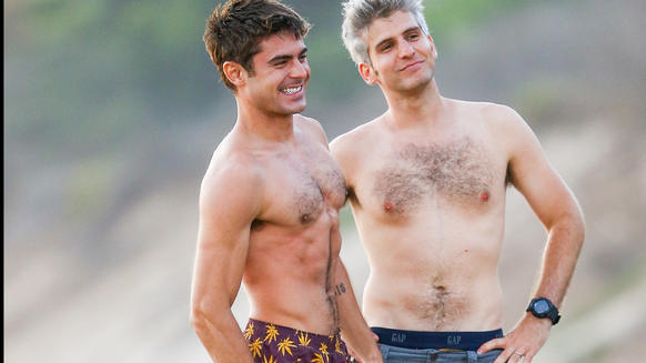 "Zac Efron and Max Joseph on the set of ""We Are Your Friends"" in Los Angeles."