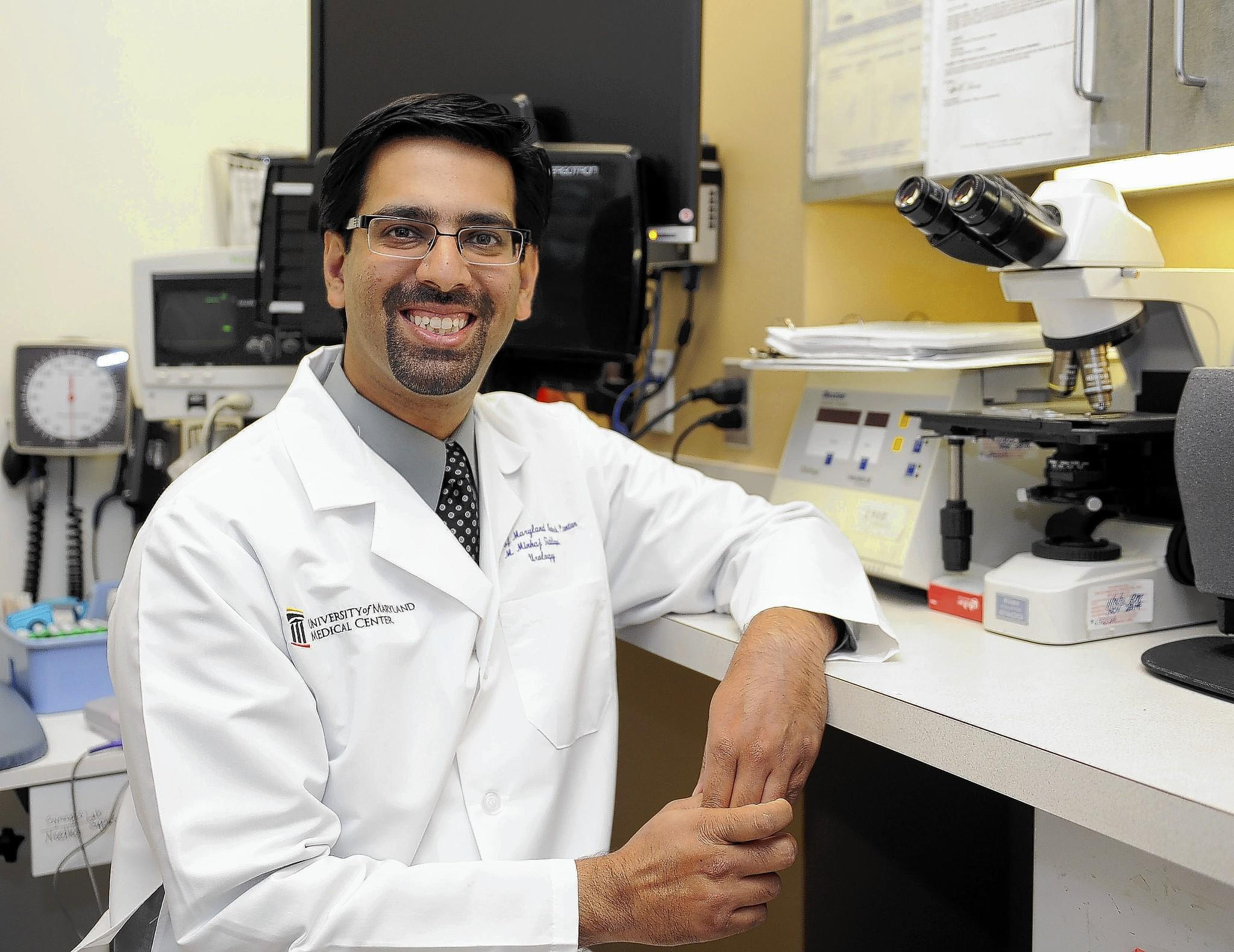 Dr. Mohummad Minhaj Siddiqui, director of urologic robotic surgery and an assistant professor at the University of Maryland School of Medicine