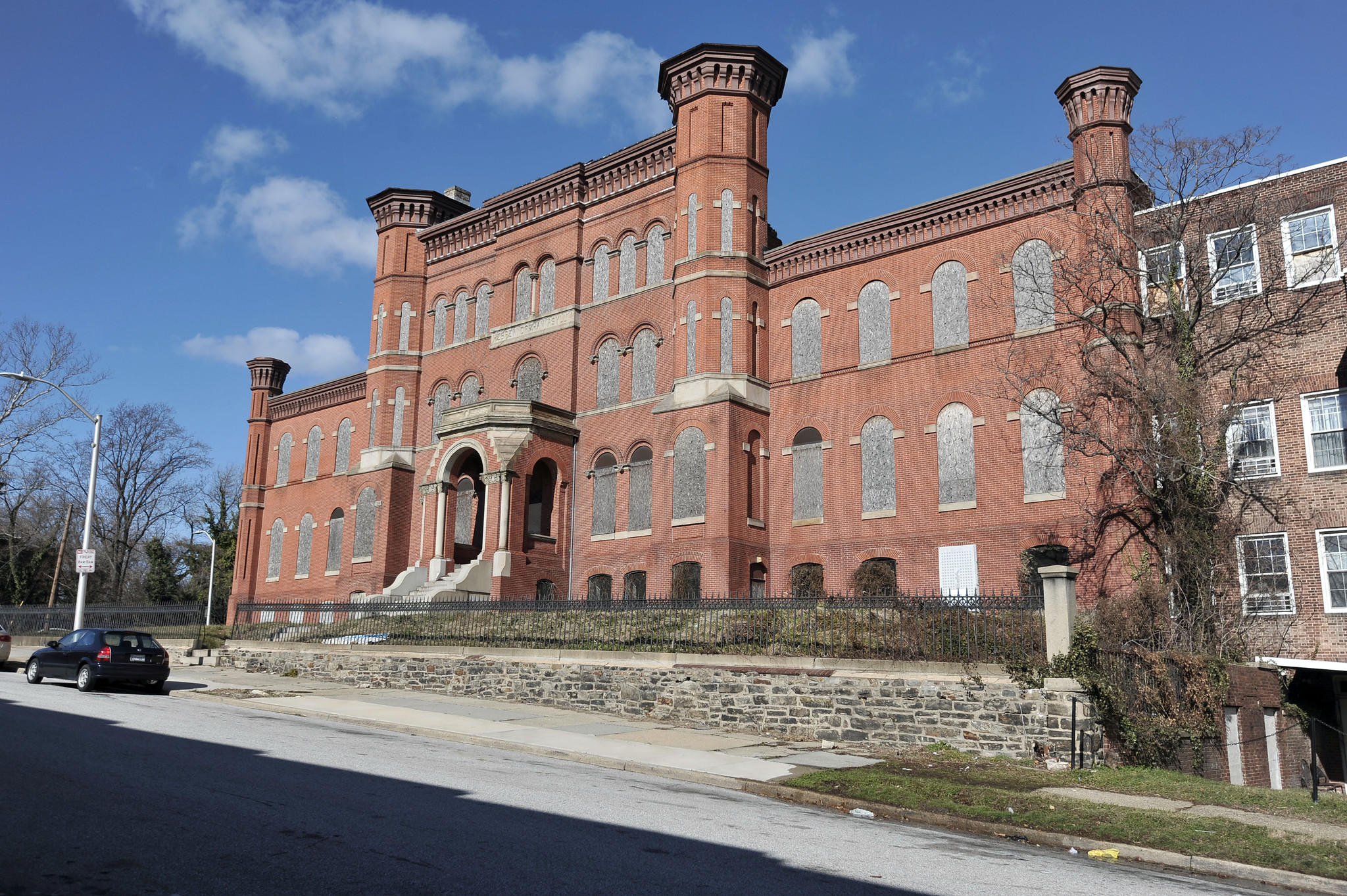 The old Hebrew Orphan Asylum in Coppin Heights.