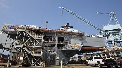Video: Tour of aircraft carrier Gerald R. Ford