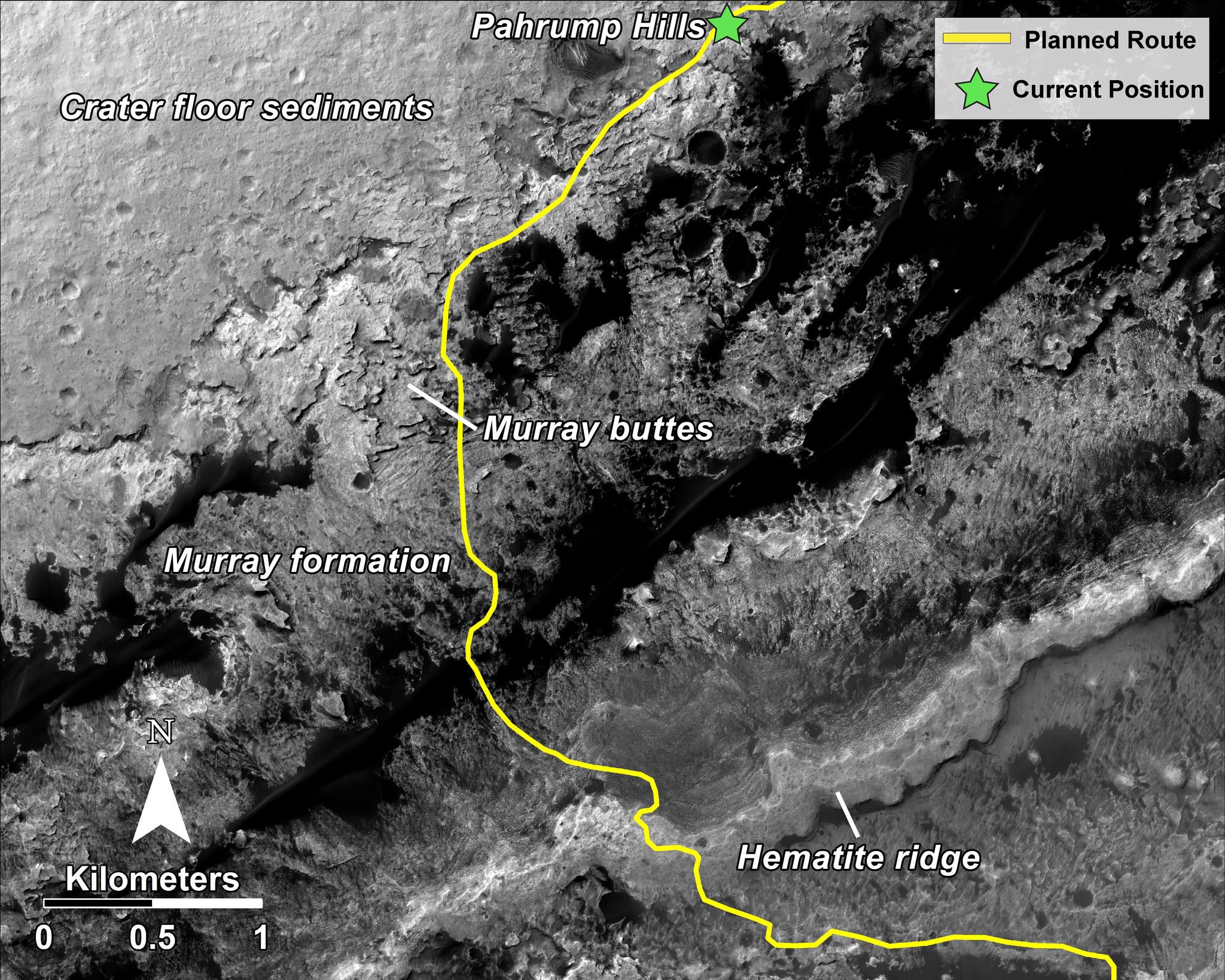 At last NASA s Mars rover Curiosity finally arrives at Mt Sharp