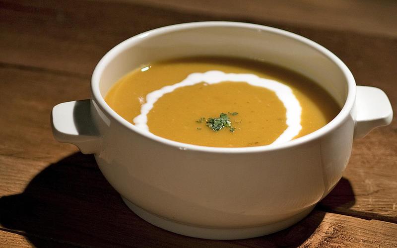 Quick orange lentil soup
