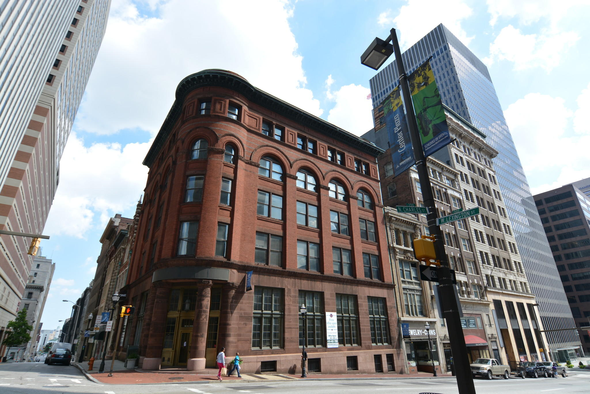 Poverni Sheikh Group and Meisel Capital Partners are planning shops and apartments in the former Central Savings Bank building at the corner of Lexington and Charles streets.