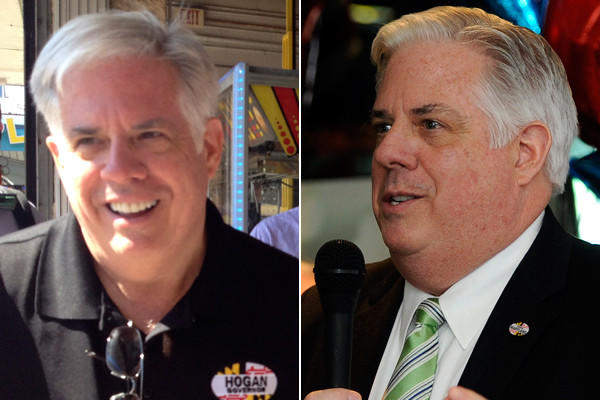 Larry Hogan in August (left) and Larry Hogan in March (right).