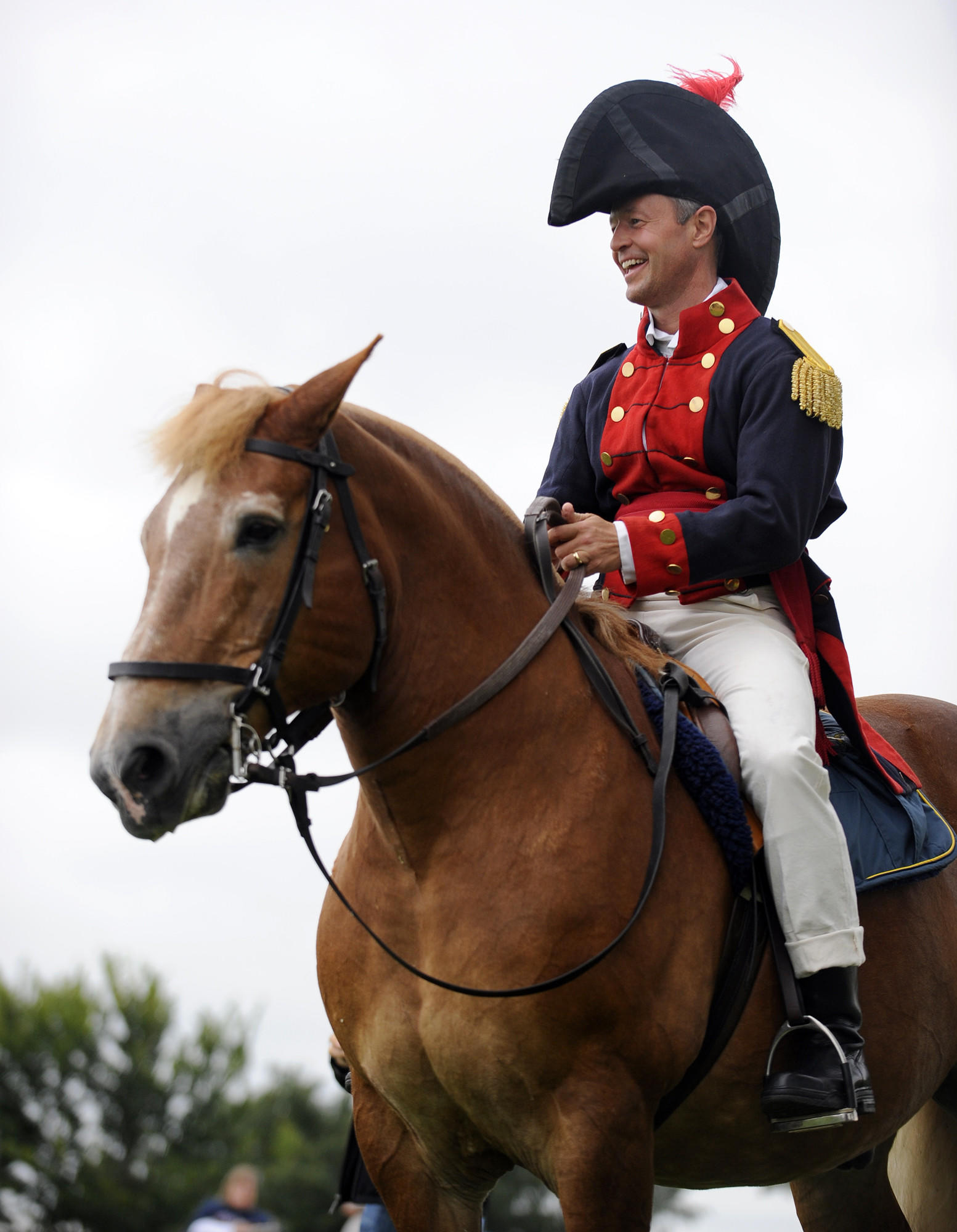 Maryland Governor Martin O'Malley riding butch on Defenders Day at Fort McHenry in 2009.