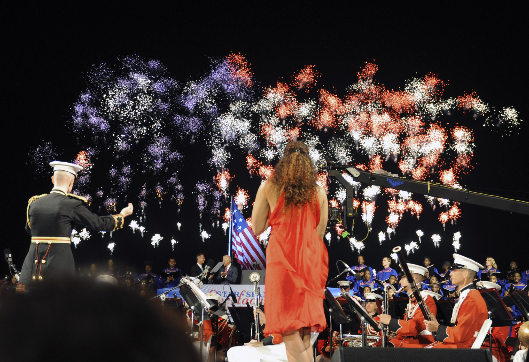 """A moment from 'Great Performances' live production on PBS of Baltimore's """"Star-Spangled Spectacular"""" concert."""