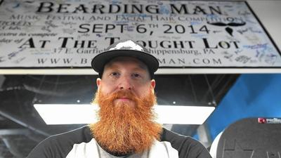 Carroll business owner wins beard competition