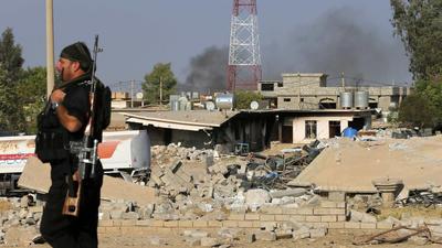 U.S. hits Islamic State target near Baghdad