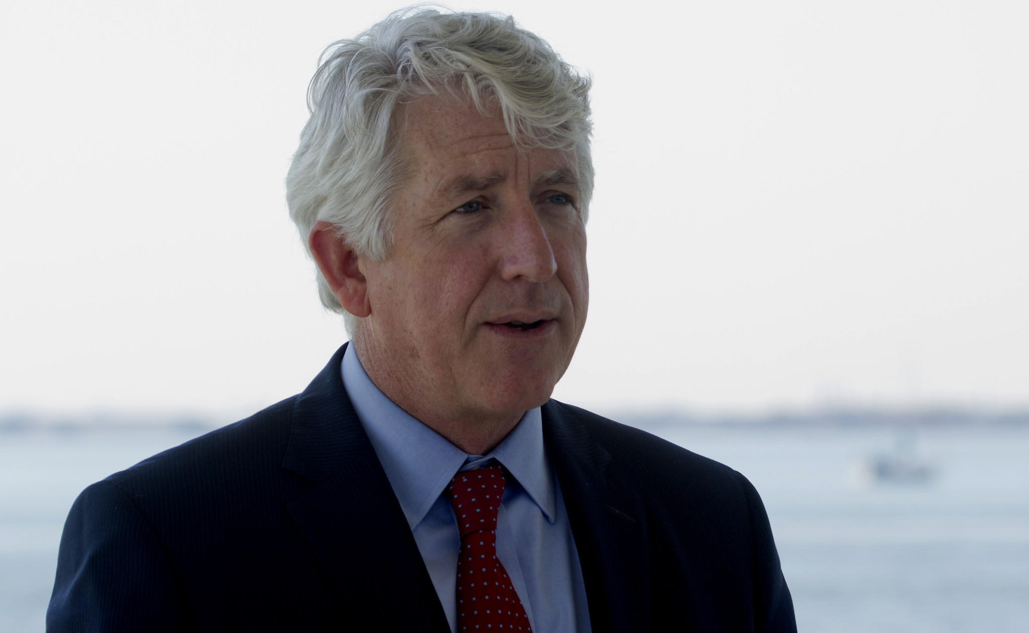 Attorney General Mark R. Herring, seen in April at a press conference at Fort Monroe, has announced a new program to help local jails statewide integrate inmates back into society after serving their sentences.