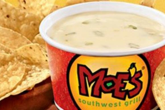 Free queso at Moe's Southwestern Gill