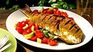 Recipe: Grilled whole snapper with tomato-cucumber salad