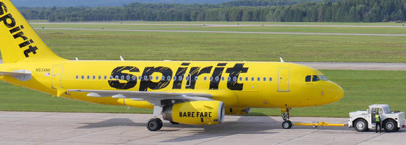 Spirit Airlines' planes got a new paint scheme that evokes thought of generics in the grocery aisle.