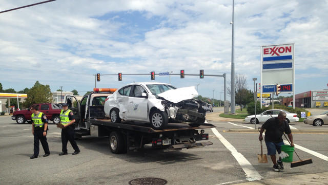 Multi-vehicle crash in Hampton