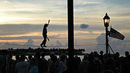 Family Travel -- Sunset at Mallory Square in Key West
