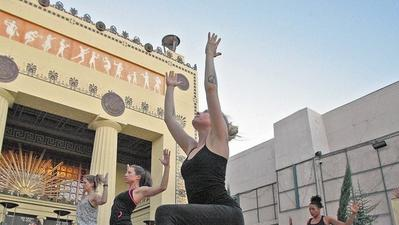 Glendale Arts Pop Up series hosts free yoga class at the Alex Theatre