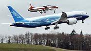 Boeing 787 Dreamliner takes flight
