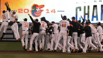 With 8-2 win Tuesday, Orioles clinch first American League East title since 1997