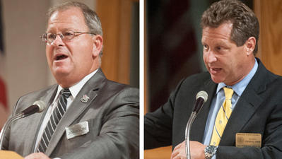 Schuh, Johnson meet for south county candidate forum