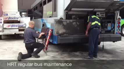 Video: HRT regular bus maintenance service