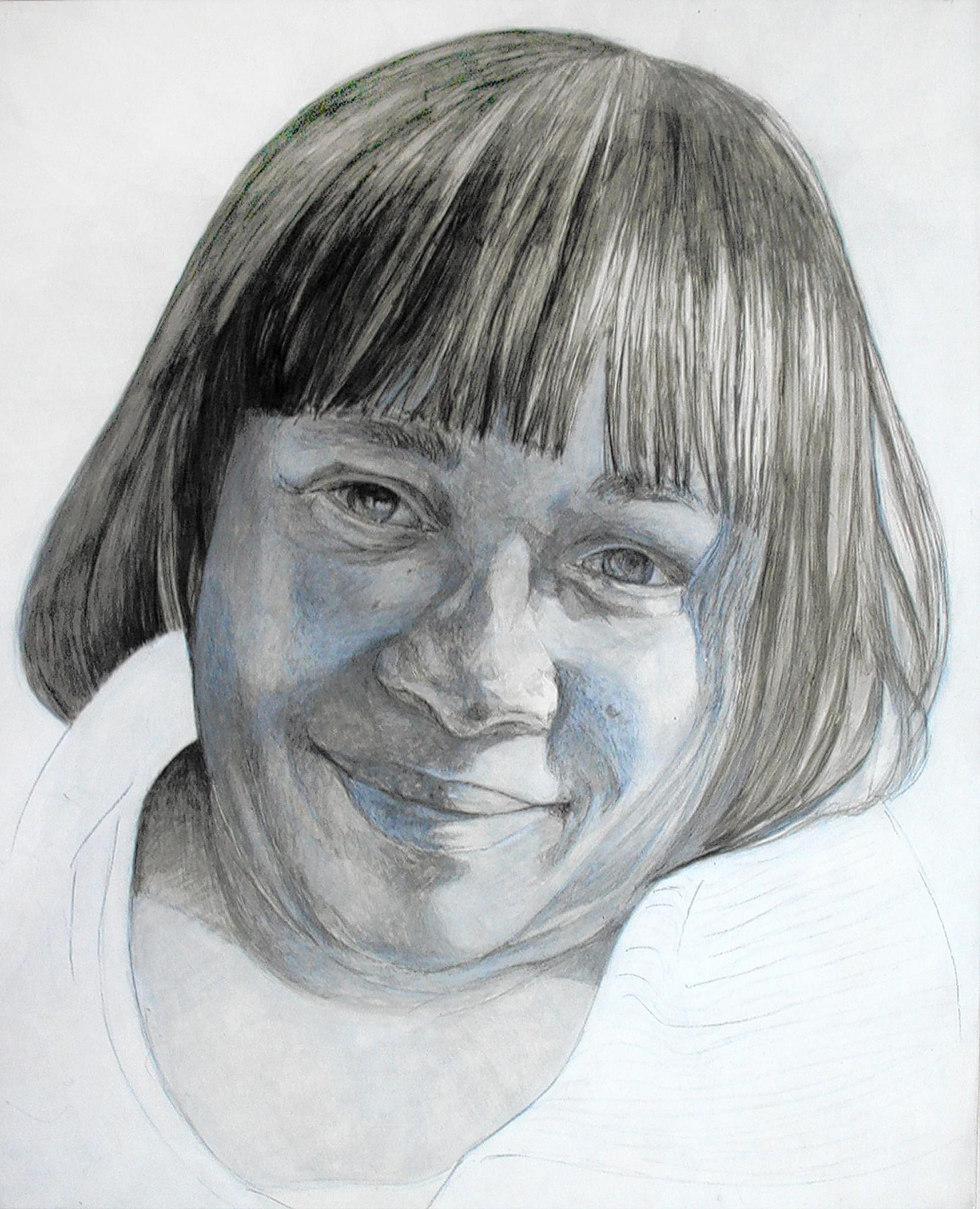 "A portrait of Juanita Brown by Nicole Buckingham Kern, part of the ""Autumn Leaves"" project created by artist Peter Bruun"