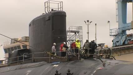 Video: Submarine John Warner Launch