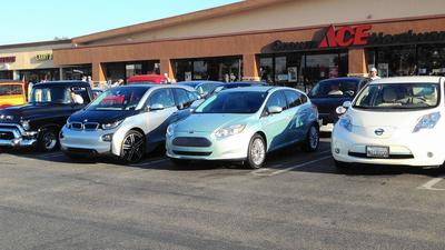 Quiet cars arrive for National Drive Electric Week in Huntington