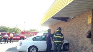 Video: Car hits Hampton Waffle House