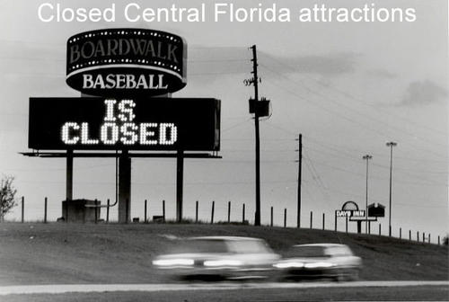 The following slides are rides, parks and attractions that have closed in Central Florida.