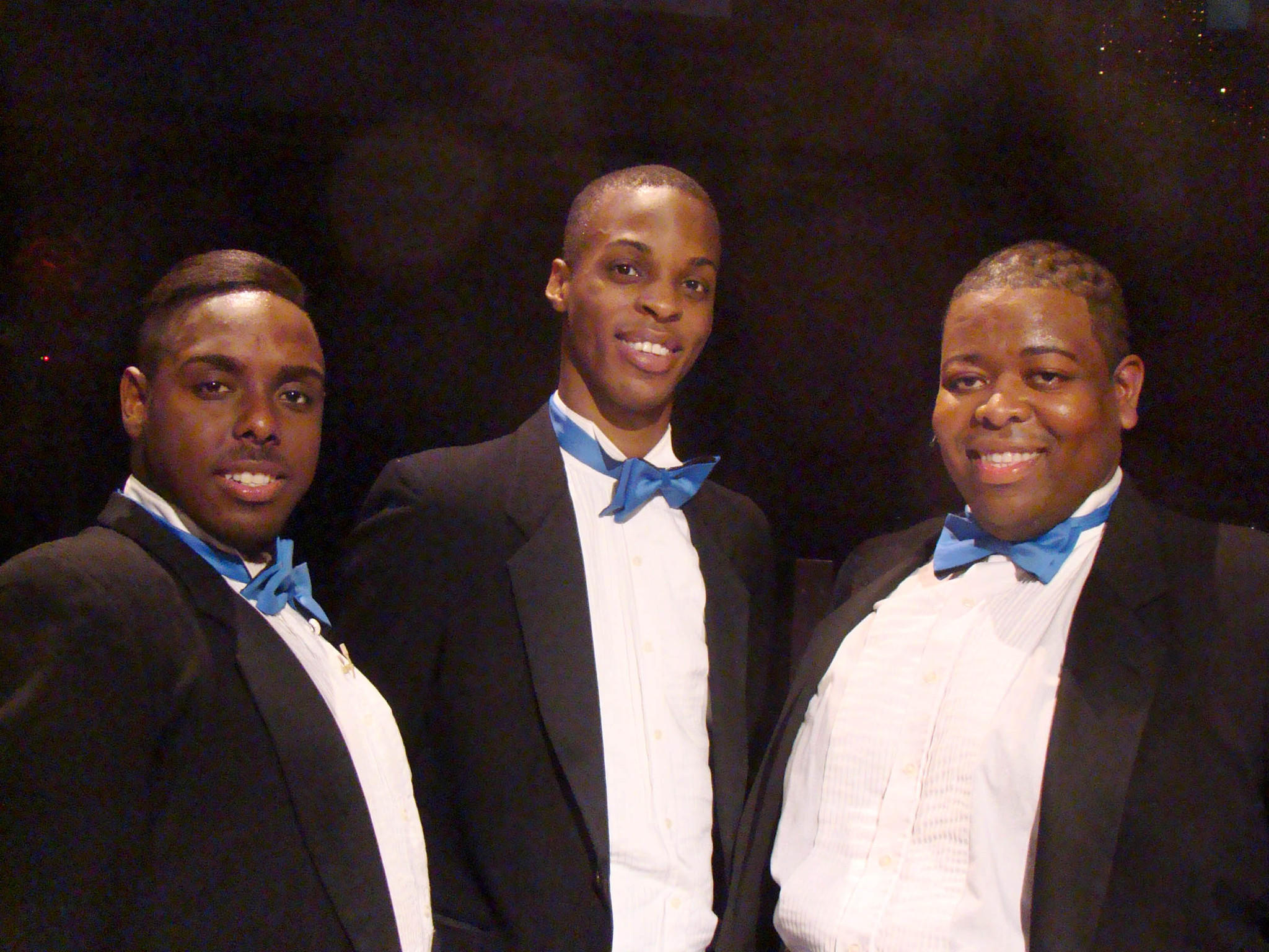 "Anne Arundel Community College dance and opera veterans, from left, Anwar Thomas, Andre Hinds and Tobias Young are performing in ""Memphis: The Musical,"" at Toby's Dinner Theater of Columbia. Photo by Bud Johnson for The Baltimore Sun"