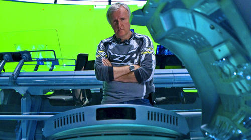 "Director James Cameron on the set of the original ""Avatar"" None"