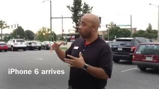Apple iPhone 6 customers wait in line in Newport News | Video