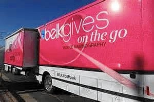 The Belk mobile mammography unit will stop in Williamsburg on Sept. 30 to offer free mammograms to women who qualify.