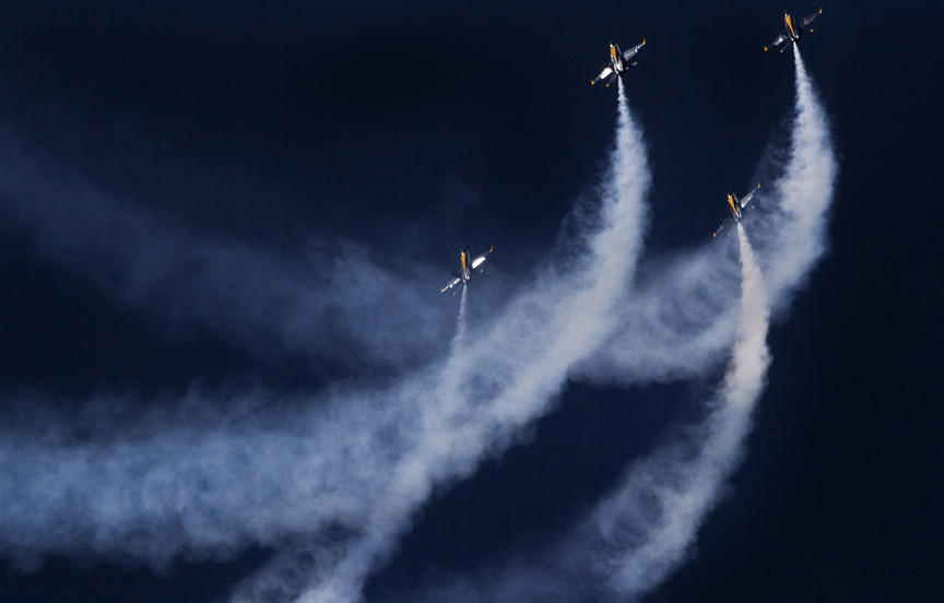 The Blue Angels, a Navy Flight Demonstration squadron preformed at the Naval Station Oceana as a warm up for Air Show Friday. and Saturday this week.