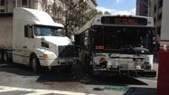 10 hurt after bus crash in downtown Baltimore