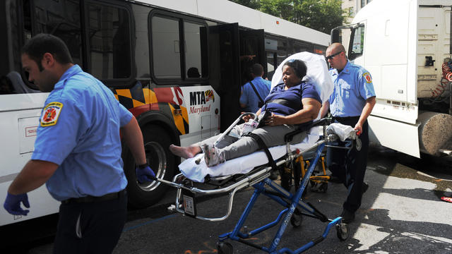 Bus accident injures 10 [Video]