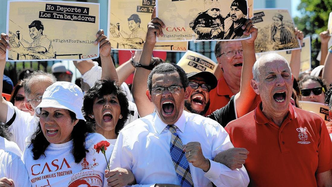 D.C. immigration protest
