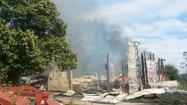 Hay barn destroyed in fire in Ellicott City