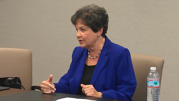 U.S. Rep. Lois Frankel at the Sun Sentinel editorial board on Monday, Sept. 22, 2014, (Photo by Anthony Man)