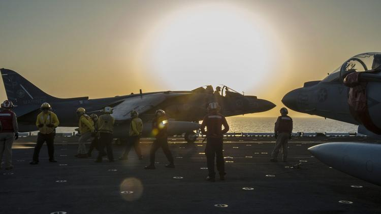 Launch from USS Makin Island